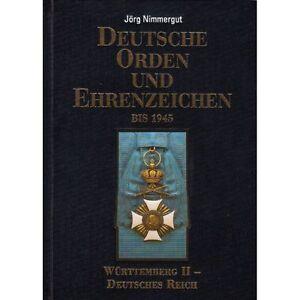 Nimmergut-Deutsche-Orden-und-Ehrenzeichen-bis-1945-Band-IV-Wuerttemberg-dt-Reich