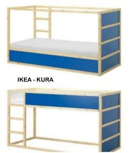 Letti A Castello A Scomparsa Ikea.Letto A Castello Ikea Modello Kura Dimensioni 90x200 Ebay