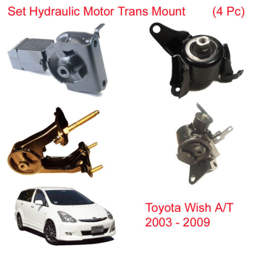 Set Hydraulic Engine Motor Trans Mount Mounting For Toyota Wish AT 2003 2009
