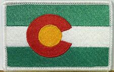 COLORADO Flag Iron-On Patch Morale Shoulder Emblem Green, Red & White Version