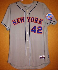 buy popular 315ed 585cd Details about NEW YORK METS #42 SULLIVAN BUTTON-DOWN GRSize 52 MLB Majestic  JERSEY