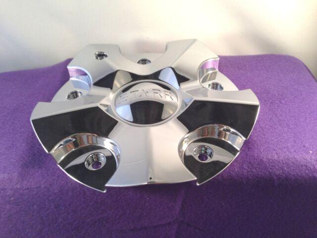 Starr 618 Chubby Chrome Custom Wheel Center Cap Set of 2 P N C 984 1