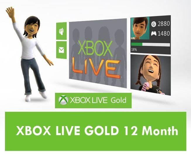 Microsoft Xbox LIVE 12 Month Gold Membership for Xbox 360 / XBOX ONE - USA 885370929348   eBay
