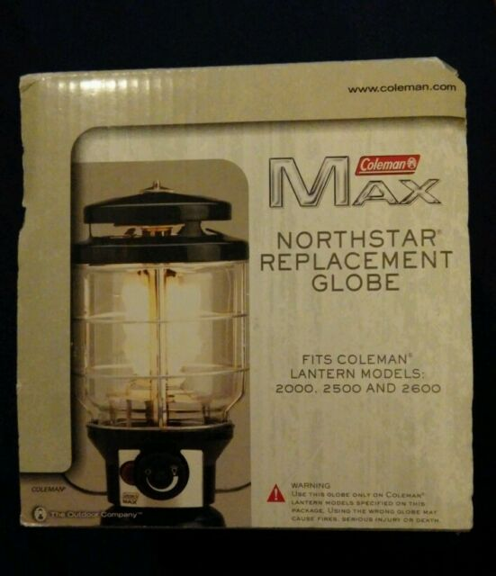 Coleman Northstar Replacement Globe Fits Lantern Models 2000 & 2500 NOS
