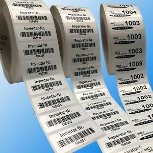 Etiketten 100 x 50 mm Aufkleber auf Rolle fortlaufend nummeriert