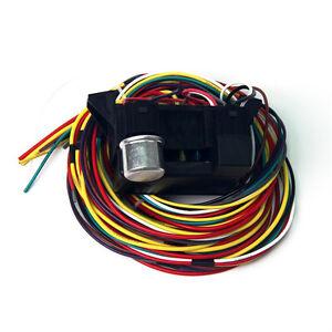 12v 10 circuit basic wire harness fuse box street hot rat. Black Bedroom Furniture Sets. Home Design Ideas