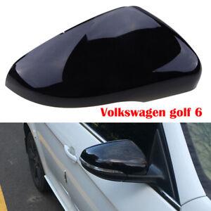 Fit Vw Golf 6 Gti Mk6 Rearview Cap Wing Mirror Cover Black Right Passenger Side Ebay