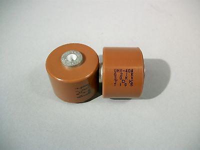 TDK UHV-40A Doorknob Capacitor 621K 30KV Lot of 2 pcs Used