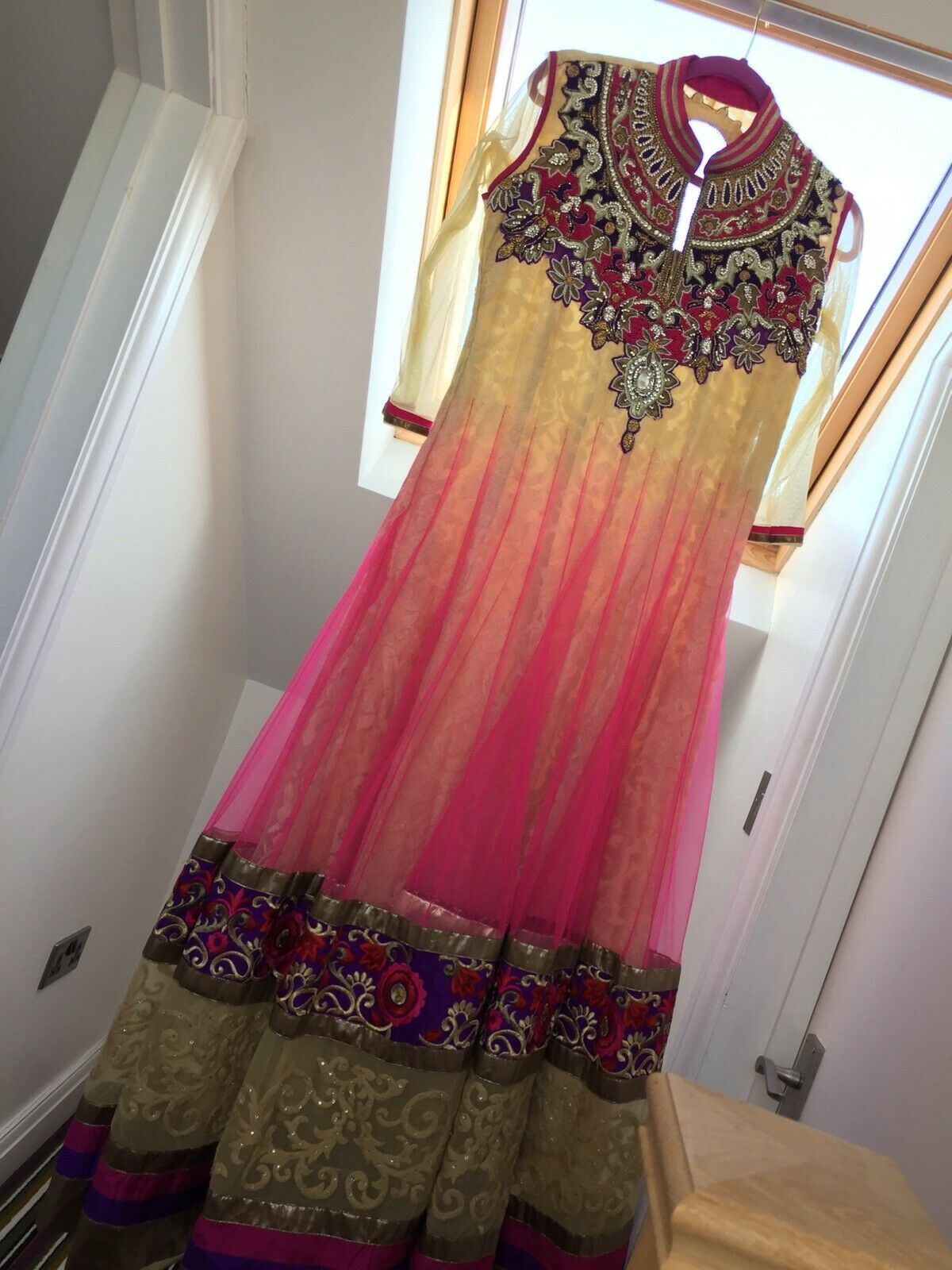 anarkali dress Size 12 - Net Top With Embroidary