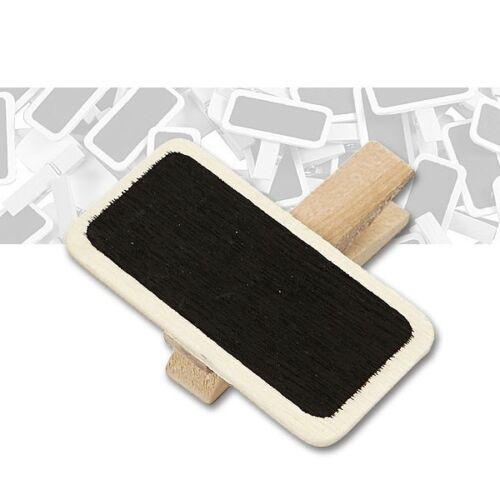 10er Pack Beschriftungstafel mit Holzklammer Format 2 x 4 cm 0,25€//Stück