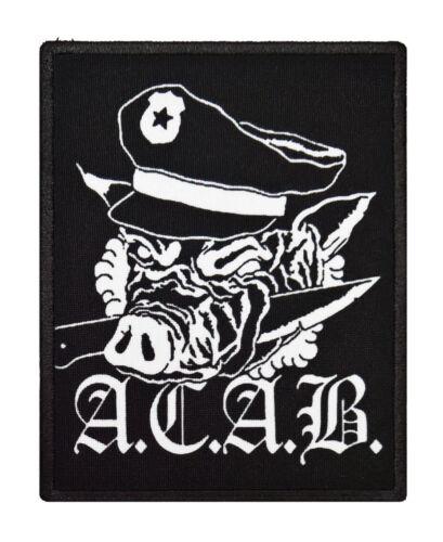 ACAB textile printed patch rock thrash hardcore crust punk metal heavy anarchy