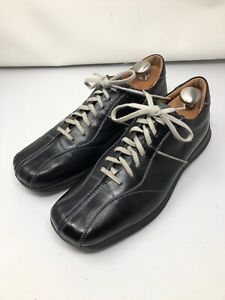 bacco bucci sport black leather mens casual shoes size 10