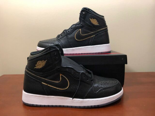 quality design 3fe27 d1336 Nike Air Jordan 1 Retro High OG BG 575441-031 Black Gold Size 7y La