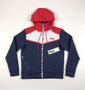 Fila-Lance-Tech-Hoodie-Mens-Medium-Full-Zip-Scuba-Poly-Color-Block-Sweatshirt