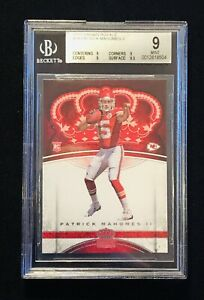 2017-Panini-Preferred-Crown-Royale-Patrick-Mahomes-Rookie-84-BGS-9-MINT