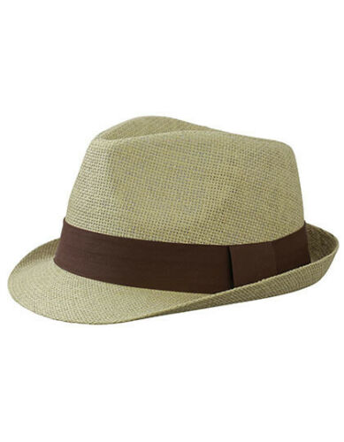 Strohhut Trilby Hut Hat Straw Sommer viele Farben MYRTLE BEACH 65H NEU