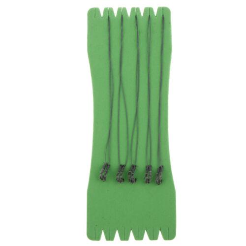 5 Paar Edelstahl Vorfach Vorfächer mit Feder /& Haken Karpfen Rig Angelgerät