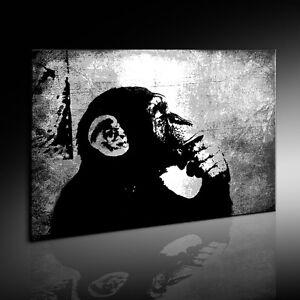 Banksy-The-Thinker-Monkey-Graffiti-Street-art-Impresiones-ART-STICAS-cuadro