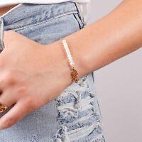 Gold Filled 14k Wedding Bracelet Hamsa Pearl Bracelet Women Bracelet