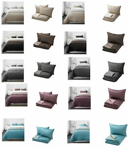 KARIT Bedspread and 1/2 cushions cover 5 colours 2 sizes 180x280