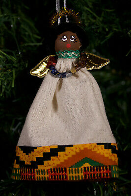 Black Angel 6 in Black Ornament African American Angel Ornament