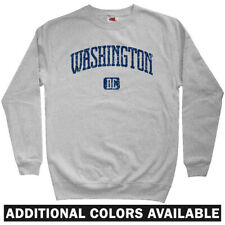 Washington DC Sweatshirt Crewneck - Nationals Capitals USA DCA IAD 202 Men S-3XL