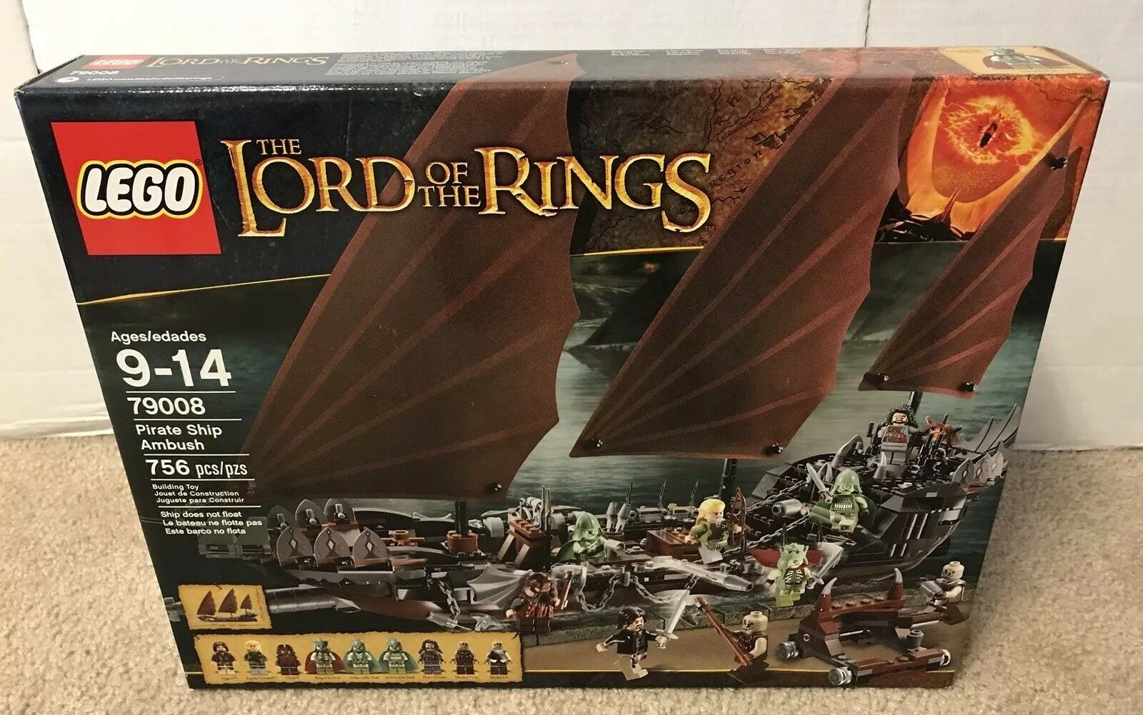 LEGO 79008 The Lord of the Rings Ship Ambush Brand New & Sealed