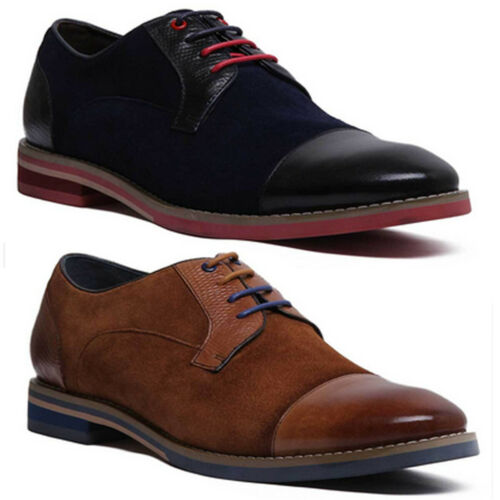 Justin Reece Mens Real Suede Casual Colour Pop Hand Made Shoes Size UK 7-12