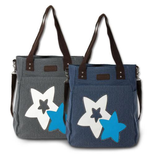 Manoro Canvas Damen Handtasche Shopper Schultertasche Stars Farbwahl OTK222X