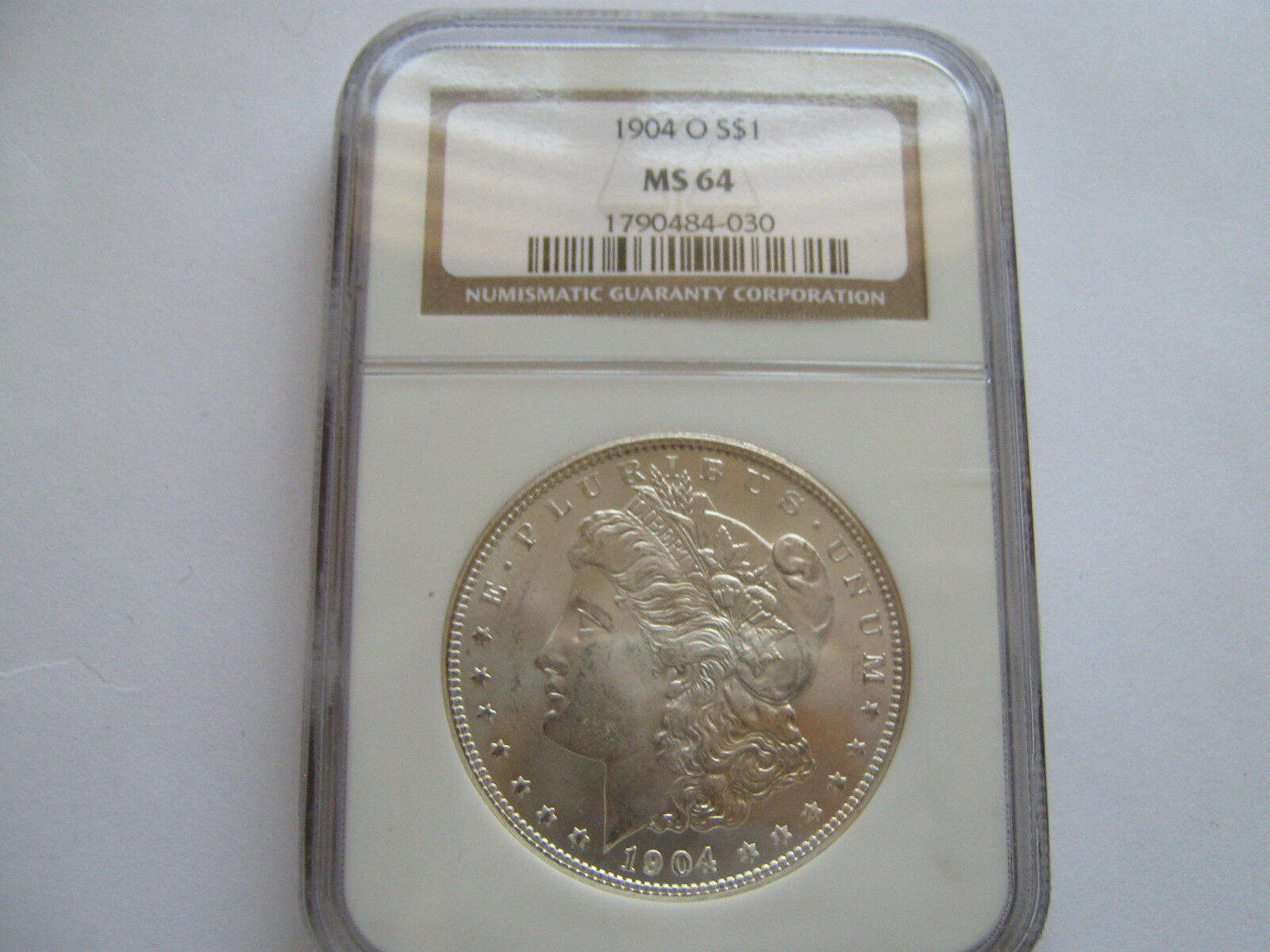 1904-O $1 Morgan Silver Dollar , NGC , MS 64