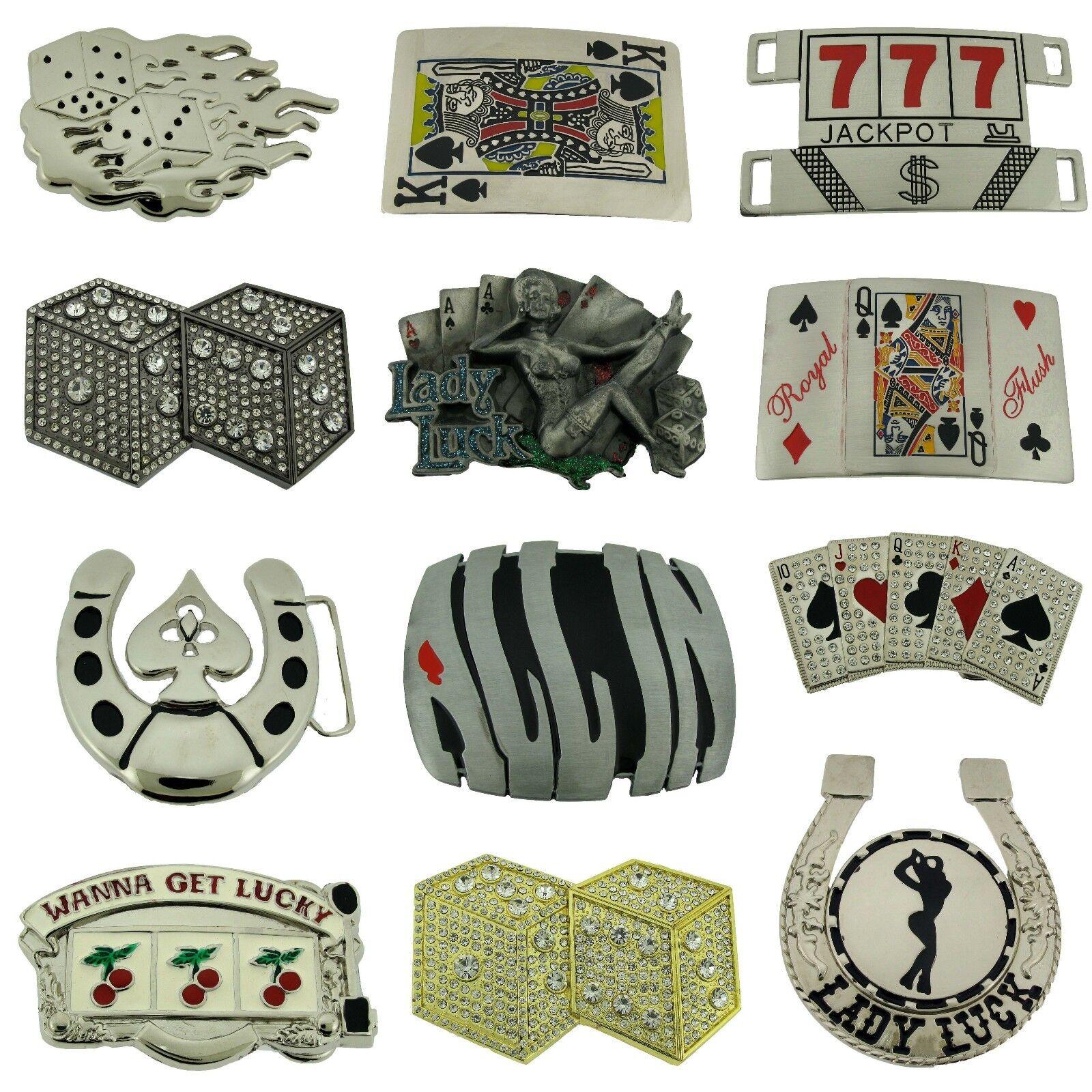 12 König Von Spade Flush Queen Spielen Karten Casino Las Vegas Gürtelschnalle
