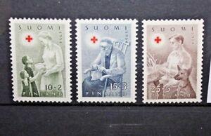FRANCOBOLLI-FINLANDIA-FINLAND-1954-034-CROCE-ROSSA-034-NUOVI-MNH-SET-CAT-A