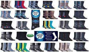 Brick Black 3 Mens Gentle Grip® Cotton Rich Non Elastic Socks UK 6-11