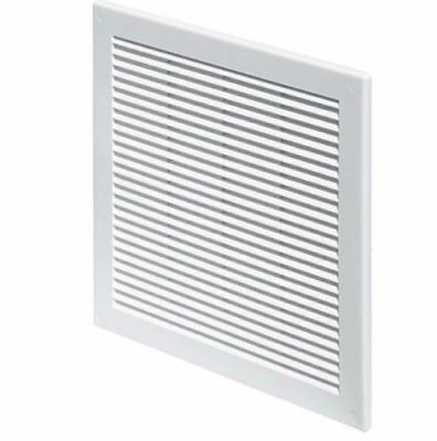 White Air Vent Grille 200mm X 200mm Fly Screen Ventilation