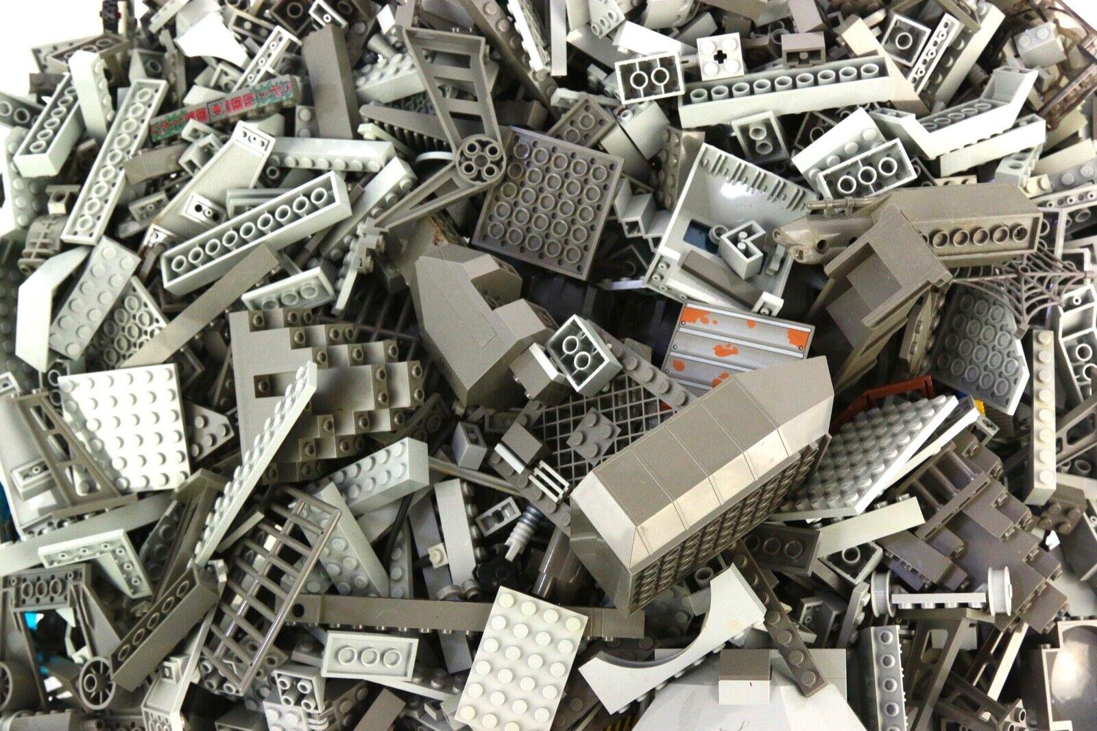 Legolas grises   gris oscuro, 5,8 libras, mezcla de piezas al azar.