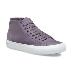 faefdf65e6 VANS Court (Canvas) Mid Grey Ridge True White Skate Shoes MEN S 7.5 ...