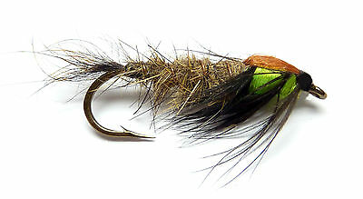 3x, 6x or 12x Fly Fishing Trout Flies (LSNM1) BUNTANA CADDIS NYMPH Trout Fly
