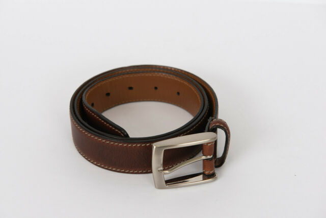 Brown 36 Sharp Mens Leather 1 1//4 Inch Casual Security Money Belt