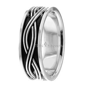 10K GOLD CELTIC WEDDING BANDS RINGS MENS WOMENS CELTIC WAVE WEDDING ...