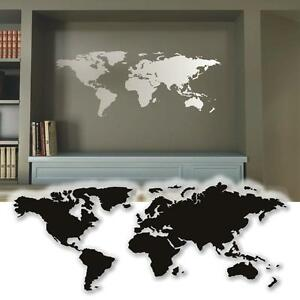 wandtattoo weltkarte wandsticker deko tattoos f r die. Black Bedroom Furniture Sets. Home Design Ideas