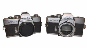 Lot Of 2 Vintage Minolta SRT MC-II Untested Cameras For Parts