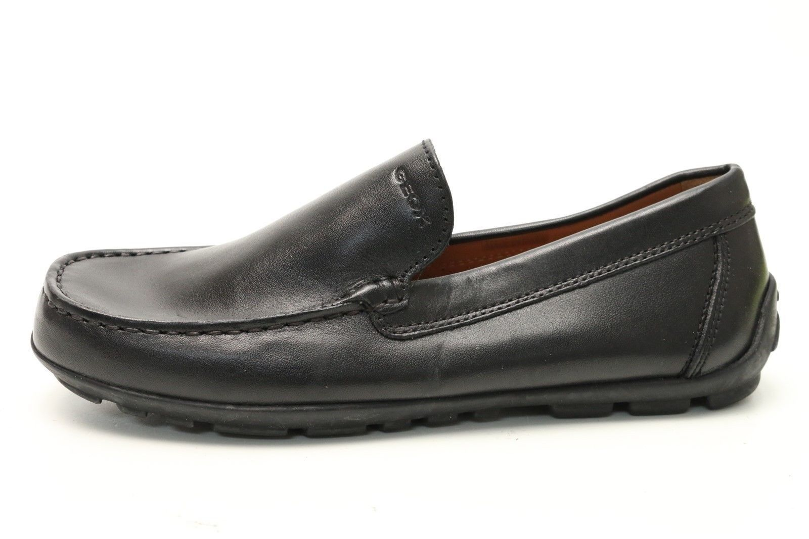 femmes GEOX REPIRA noir leather loafers chaussures sz. 35 NEW