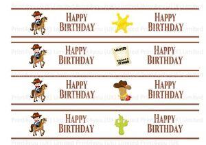 Cowboy-Western-Happy-Birthday-Edible-Ribbon-Cake-Decorating-Icing-x-4-Strips