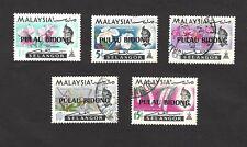 Malaysia stamps of Selangor overprinted PULAU BIDONG used (5) ex Jim Czyl