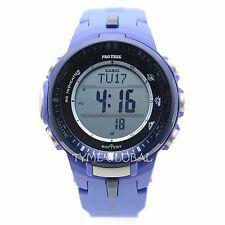 Casio Pro Trek PRW-3000-2B Blue Resin Thermometer Solar Power Digital Watch