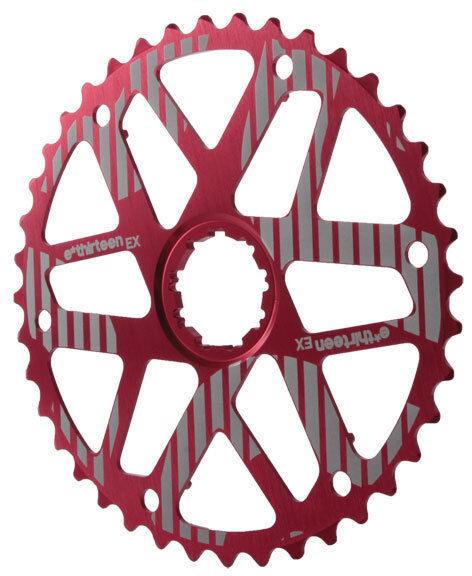 E.13 Ethirteen Extended Range Cog for Shimano 10 Speed Bike Cassette 42t Red