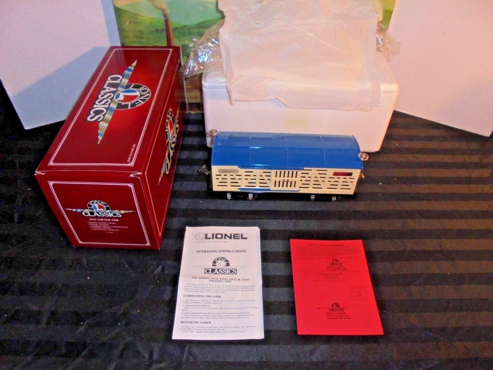 LIONEL CLASSIC SERIES 1513 CATTLE CAR 6-13600 STANDARD GAUGE MIB