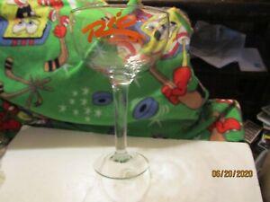 Vintage Rio Las Vegas Casino cocktail glass hurricane Masquerade Village Ombre