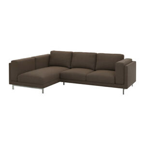 Ikea Nockeby Replacement Cover 2 Seat Sofa L H Chaise Teno