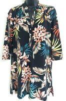 NEW Ex Wallis Black Multi Floral Print Button Shirt Blouse Top Size S/M/L/XL